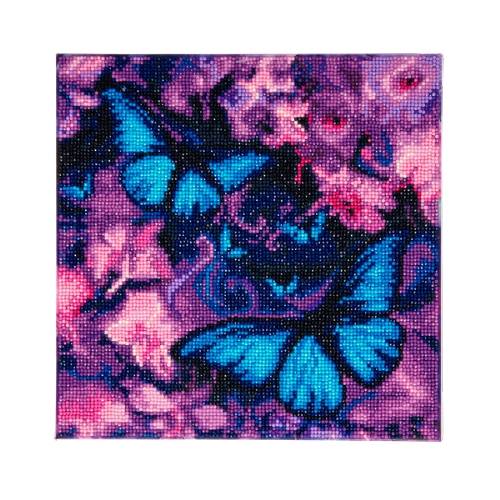 Blue Violet Butterflies 30x30cm Crystal Art Kit